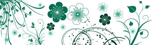 zielone kwiaty naklejka pod szybę
