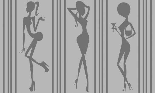 naklejka na okno postacie kobiet