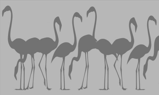 naklejka na okno flamingi