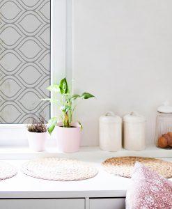 naklejka na okno w kuchni z orientalnymi ornamentami