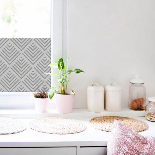 naklejka na okno w kuchni wzory geometryczne