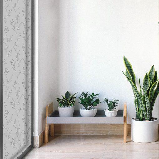 naklejka na szybę balkonową w kwiatuszki