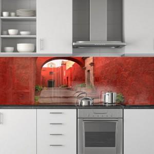 Fototapety pod szyby w kuchni - folia pod szkło uliczka
