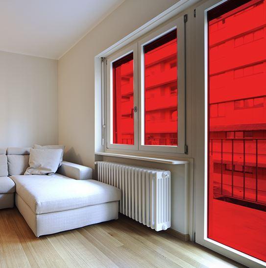 okleina witrażowa - folia witrazowa czerwona