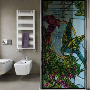 witraże samoprzylepne do łazienki