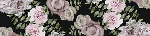 okleina na szybę z motywem kwiatów