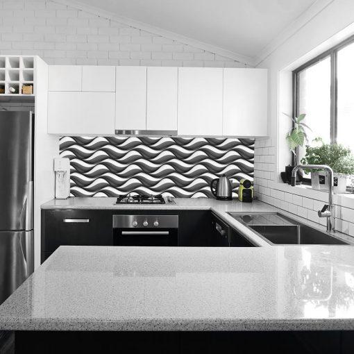 abstrakcyjna okleina na szkło do kuchni