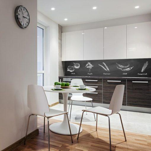 naklejka czarno-biała na szybę do kuchni