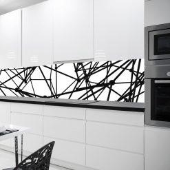naklejka na szybę do kuchni czarno-biała