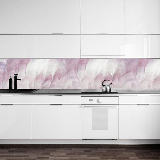 abstrakcyjna okleina na szkło w kuchni