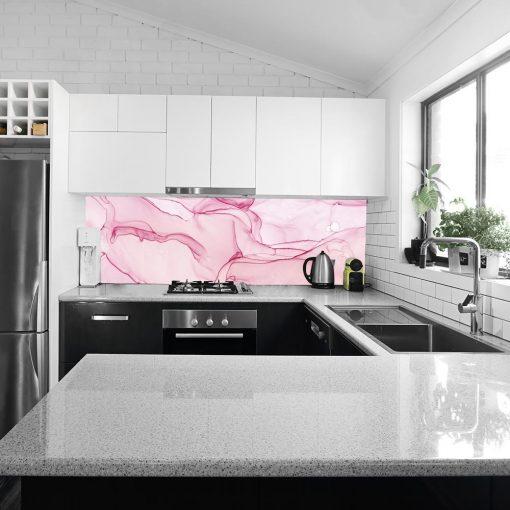 różowa okleina na szkło do kuchni