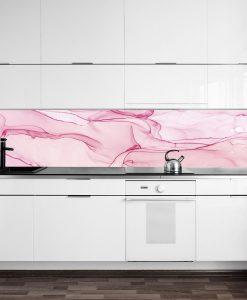 naklejka na szybę różowe akwarele