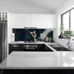 akwarelowa okleina na szkło w kuchni
