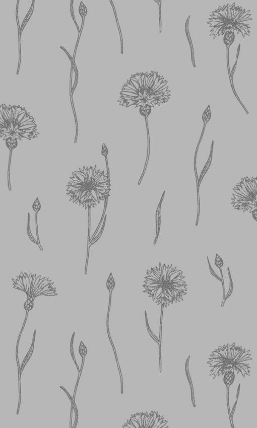 firanka samoprzylepna we wzory roślinne