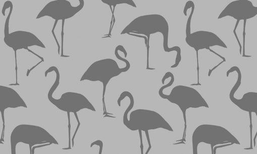 naklejka mrożona we flamingi