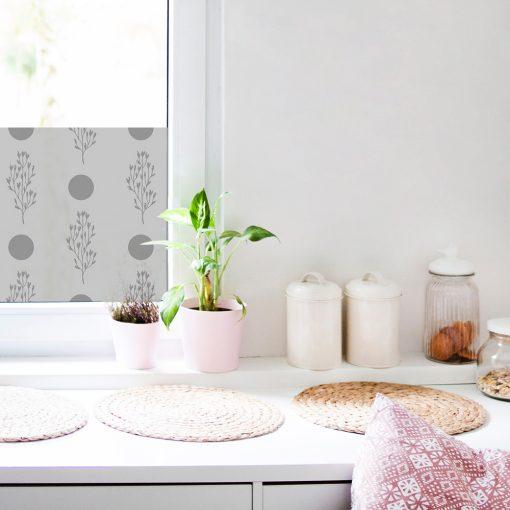 naklejka mrożona na okna w kuchni