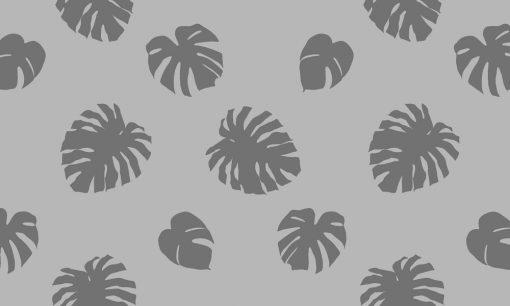 naklejka mrożona z tropikalnymi liśćmi