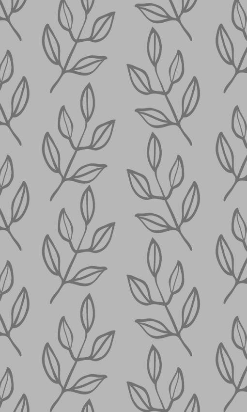 naklejka matująca gałązki z listkami