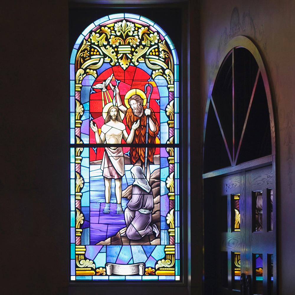 naklejka witrażowa do kościoła