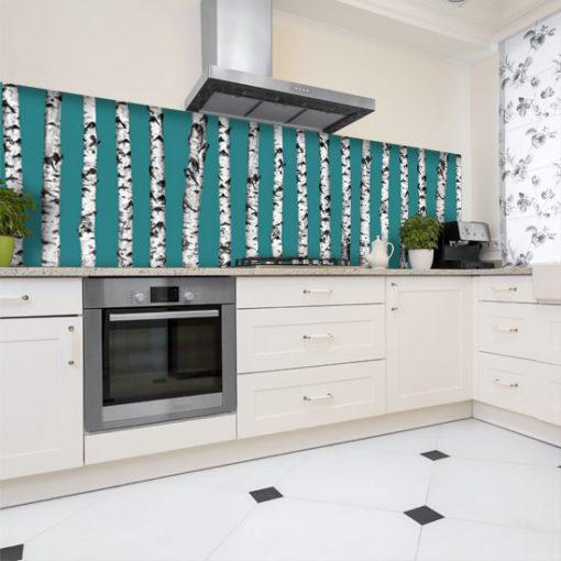 turkusowa naklejka na szkło kuchenne