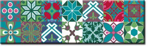 naklejka na szkło imitacja marokańskich kafelków