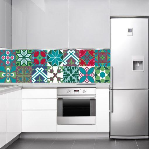 okleina na szybę kuchenną wzory marokańskie