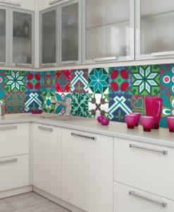 naklejka na szybę do kuchni wzory marokańskie
