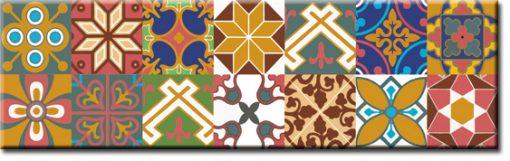 naklejka na szybę kuchenną orientalne wzory