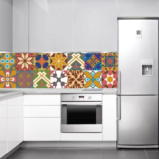marokańskie kafelki imitacja naklejka na szybę