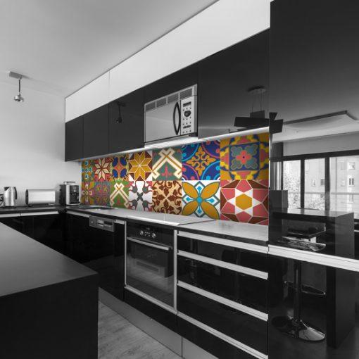 naklejka marokańskie wzory na szybę do kuchni