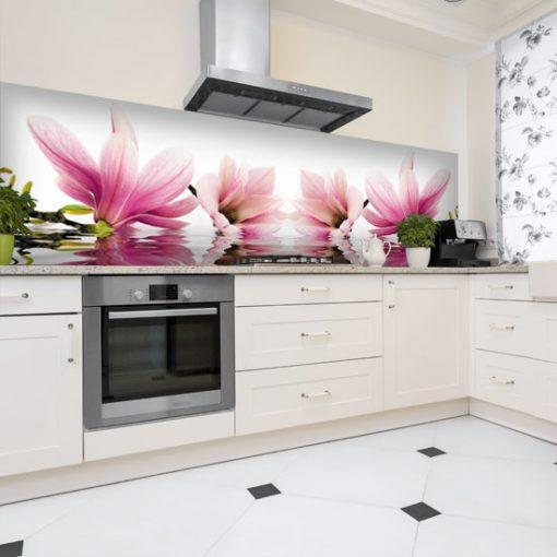naklejka magnolie na szybę kuchenną