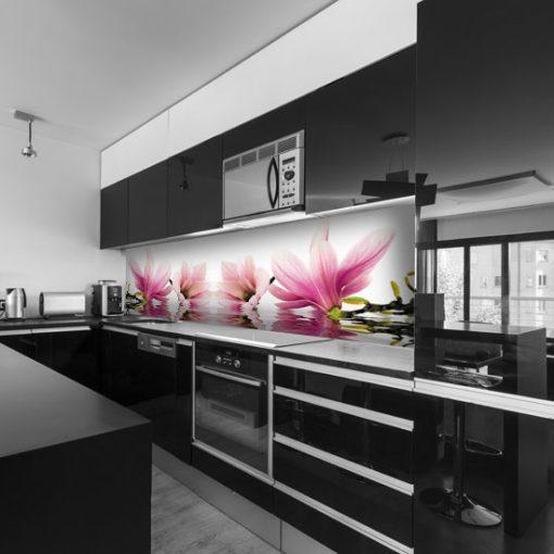 naklejka na szybę do kuchni magnolia