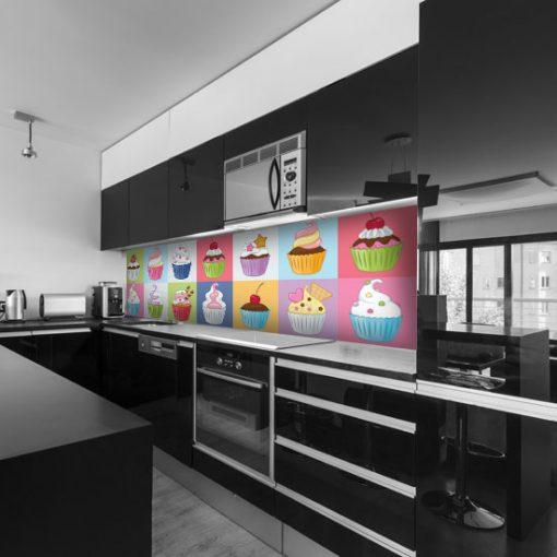 naklejka kolorowa na szybę do kuchni