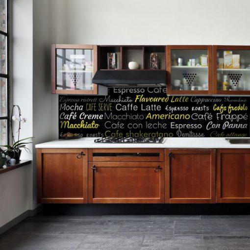 czarno-żółty laminat na szkło kuchenne