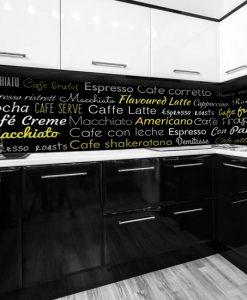 okleina na szybę kuchenną kawa