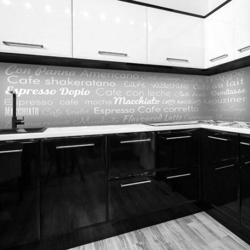 naklejka na szkło kuchenne napisy o kawie
