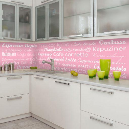 naklejka z napisami o kawie na szybę do kuchni