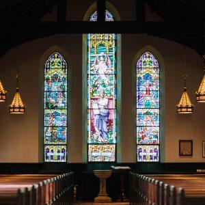 samoprzylepny witraż do kaplicy
