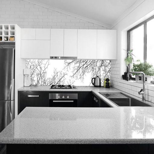 okleina pod szkło do kuchni z motywem gałęzi