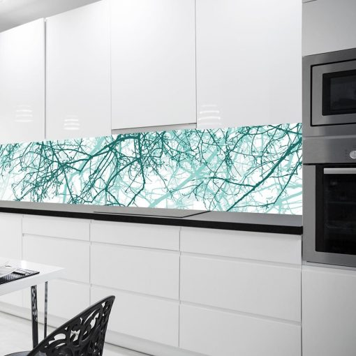 turkusowa naklejka pod szkło do kuchni