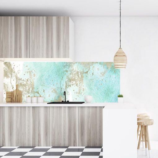 laminat pod szkło do kuchni akwarele