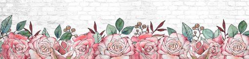 róże i cegły naklejka pod szybę kuchenną