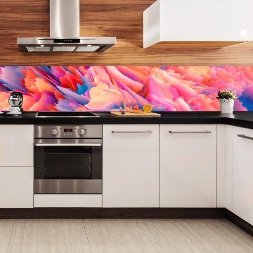 abstrakcyjna naklejka pod szybę kuchenną