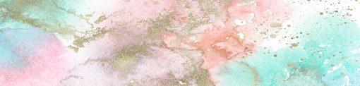 naklejka pod szybę kuchenną pastelowe kolory