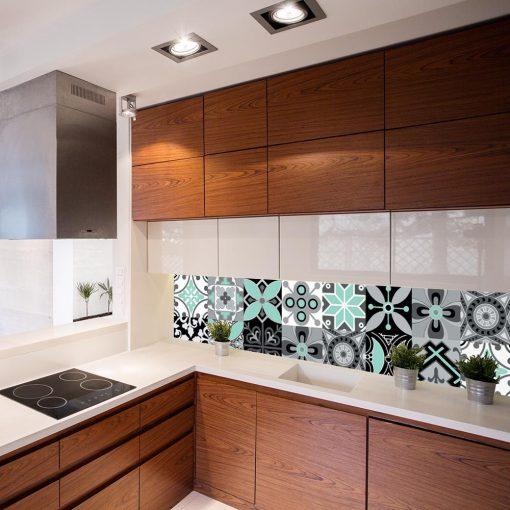 naklejka na szkło do kuchni marokańskie wzory