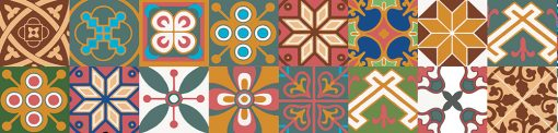 naklejka na szkło marokański motyw