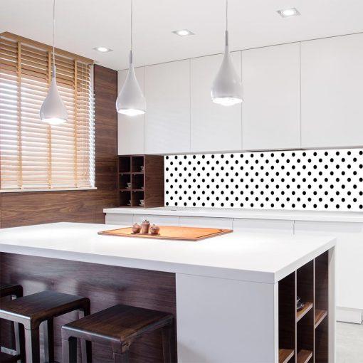 naklejka czarno-biała na szkło do kuchni