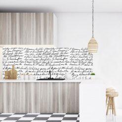 naklejka z napisami na szkło do kuchni