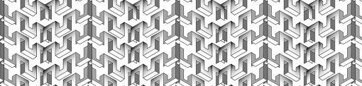 czarno-biała naklejka na szybę z motywem wzorów