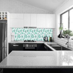 naklejka na szkło do kuchni listki